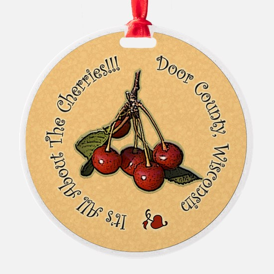 Its All About the Cherries Ornament