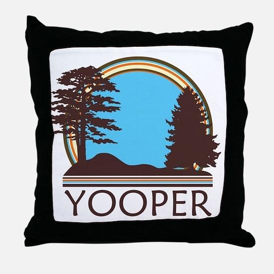 Vintage Retro Yooper Throw Pillow
