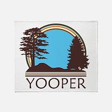 Vintage Retro Yooper Throw Blanket