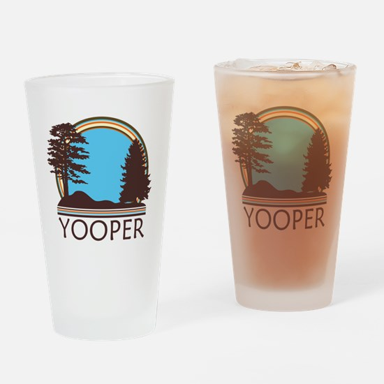 Vintage Retro Yooper Drinking Glass