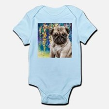 Pug Painting Body Suit