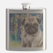 Pug Painting Flask