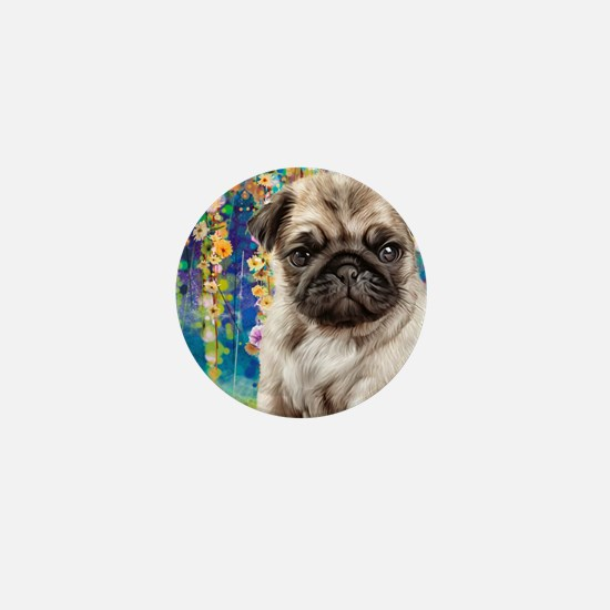Pug Painting Mini Button