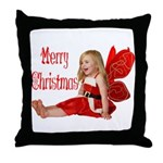 Christmas Faery Throw Pillow