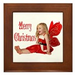 Christmas Faery Framed Tile