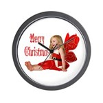 Christmas Faery Wall Clock