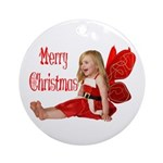 Christmas Faery Ornament (Round)