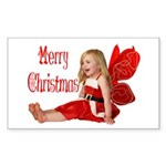 Christmas Faery Rectangle Sticker