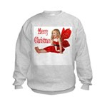 Christmas Faery Kids Sweatshirt