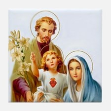 The Holy Family Tile Coaster