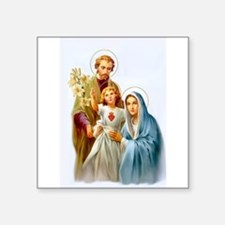 """The Holy Family Square Sticker 3"""" x 3"""""""