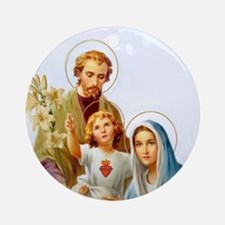 The Holy Family Ornament (Round)