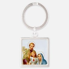The Holy Family Square Keychain