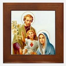 The Holy Family Framed Tile