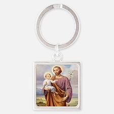 ST. JOSEPH Square Keychain