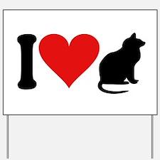 I Love Cats (design) Yard Sign
