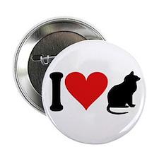 """I Love Cats (design) 2.25"""" Button"""