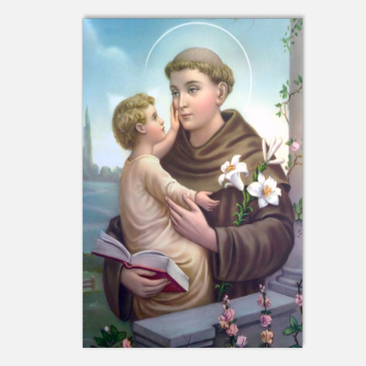 St. Anthony Of Padua Postcards (package Of 8)