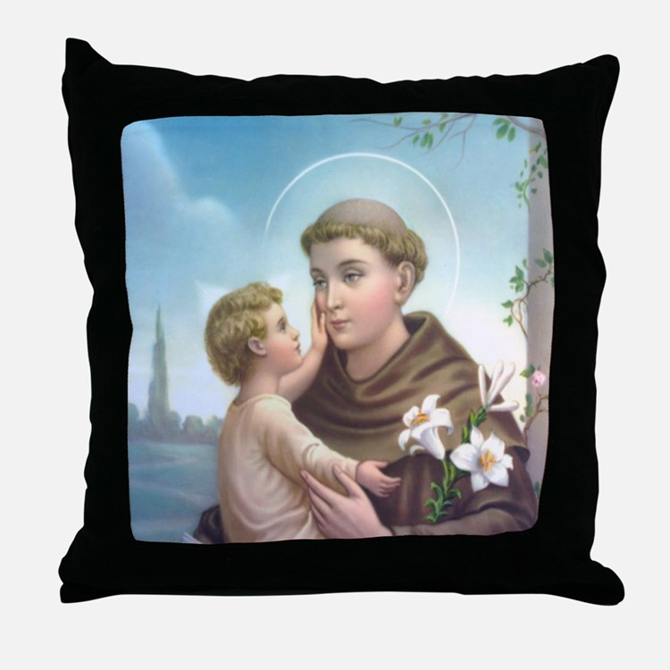 St. Anthony of Padua Throw Pillow