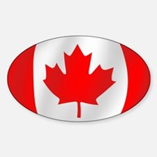 Pure Flag of Canada Oval Decal