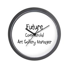 Future Commercial Art Gallery Manager Wall Clock