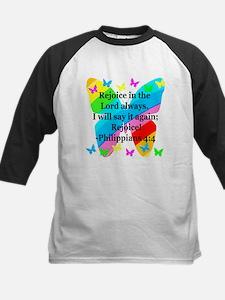 PHILIPPIANS 4:4 Kids Baseball Jersey