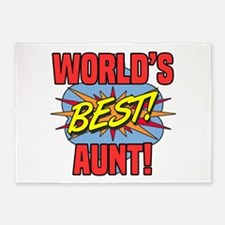 World's Best Aunt 5'x7'Area Rug