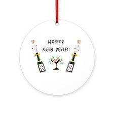 Happy New Year Ornament (Round)