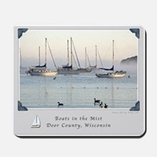 Sunrise Boats in the Mist_Watercolor Mousepad