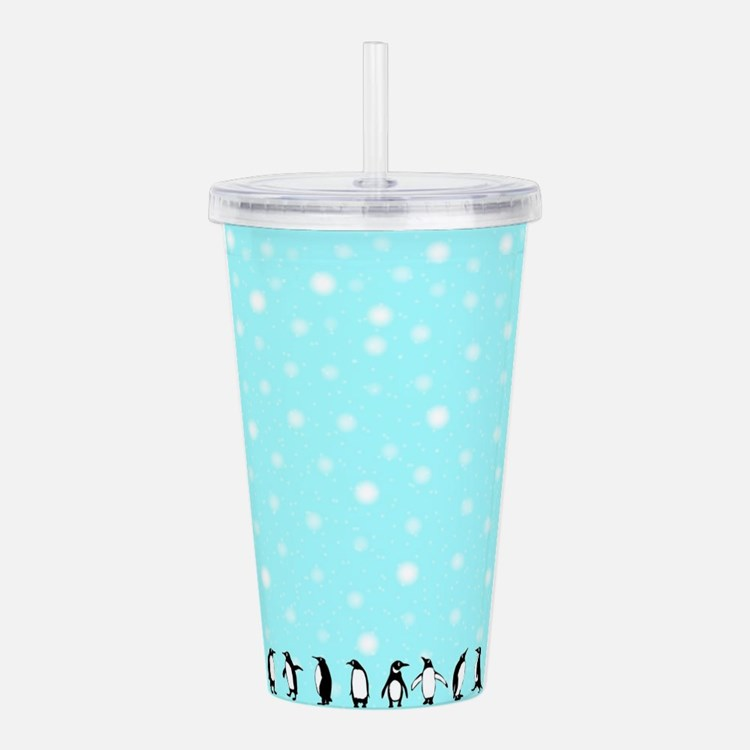Penguins In A Blizzard Acrylic Double-wall Tumbler
