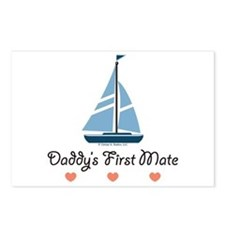 Daddy's 1st Mate Sailing Sailboat Postcards (Packa