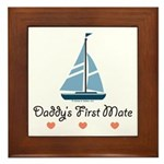 Daddy's 1st Mate Sailing Sailboat Framed Tile