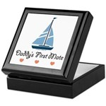 Daddy's 1st Mate Sailing Sailboat Keepsake Box