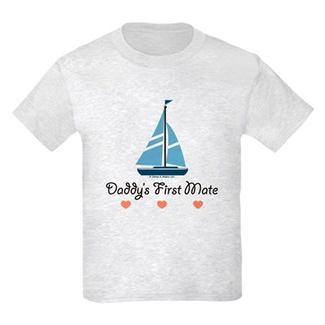 Daddy's 1st Mate Sailing Sailboat Kids Light T-Shi