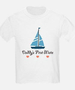 Daddy's 1st Mate Sailing Sailboat T-Shirt