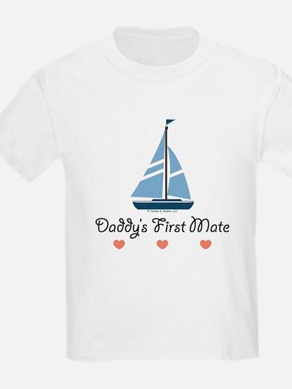 Daddy's 1st Mate Sailing Sailboat T-Shirt