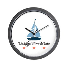 Daddy's 1st Mate Sailing Sailboat Wall Clock