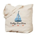 Daddy's 1st Mate Sailing Sailboat Tote Bag