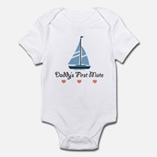 Daddy's 1st Mate Sailing Sailboat Infant Onesie