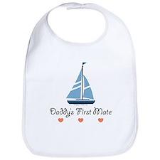 Daddy's 1st Mate Sailing Sailboat Bib