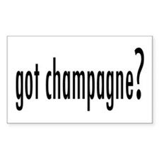 got champagne? Rectangle Decal