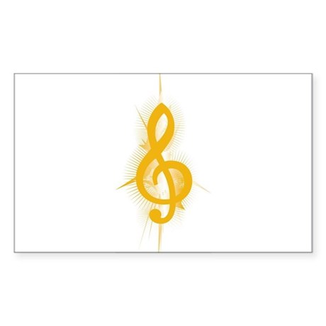 Yellow Note Rectangle Sticker