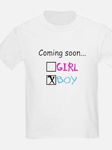 Boy, Coming Soon T-Shirt