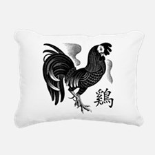 Chinese Zodiac Rooster Rectangular Canvas Pillow