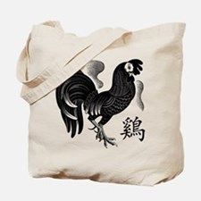 Chinese Zodiac Rooster Tote Bag