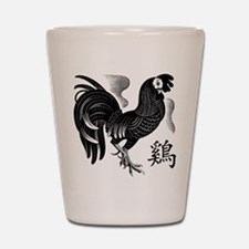Chinese Zodiac Rooster Shot Glass