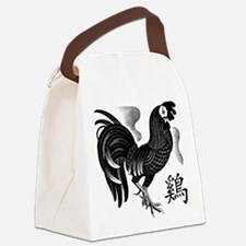Chinese Zodiac Rooster Canvas Lunch Bag