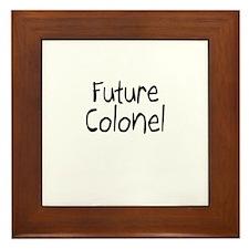Future Colonel Framed Tile