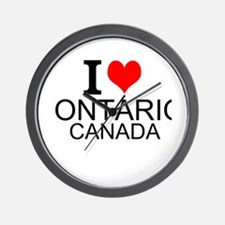 I Love Ontario, Canada Wall Clock