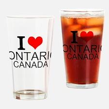 I Love Ontario, Canada Drinking Glass